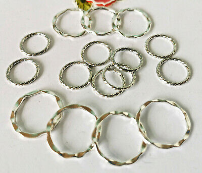 35 x Fab Mix Twist Closed Ring,15 & 18mm & Strong Jump ring 12/16mm *New!*