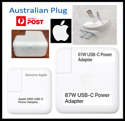 """Genuine Apple 29W 61W 87W USB-C Power Adapter Charger MacBook Pro 13"""" 15"""" Charge"""