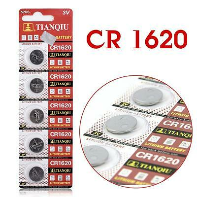 5pcs CR1620 CR 1620 3V Coin Cells Button Battery Watch Remote Control Battery
