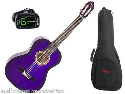 VALENCIA PURPLE HALF SIZE (1/2) GUITAR PACK *Inc Guitar, Padded Bag, Tuner* NEW!
