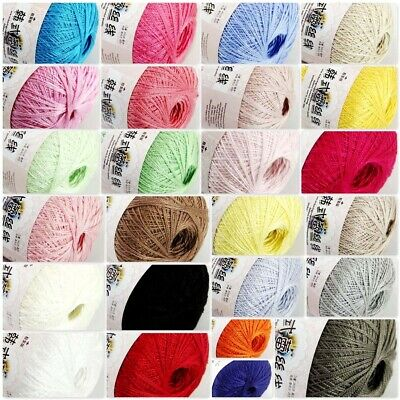 Sale 1ballx50g New Soft Hand Cotton Lace Wool Yarn Crochet Shawl Scarf Knitting