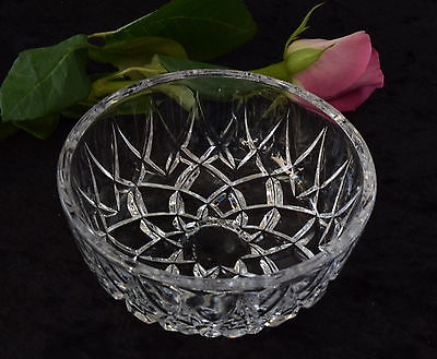 Pretty Vintage Small CRYSTAL BOWL Trinket/Nibbles Dresser Table Jewellery Holder