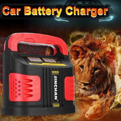 350W 14A AUTO LCD Battery Charger 12-24V Car Van Jump Starter Booster 160V-220V
