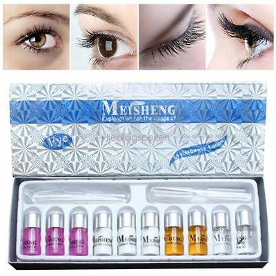 1BOX Lady Eyelash Curling Perming Curler Perm Kit Eye Lashes Wave Lotion Set HOT