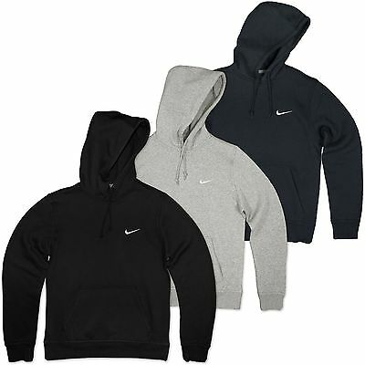 cb8b4e8b47ef Nike Swoosh Hoodie Fleece Hooded Jumper Club Hoody Sweatshirt Sweater S-XL