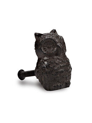 "Set of 6 Pieces 2"" Metal Cast Iron Brown Owl Drawer Pulls Cabinet Knobs"