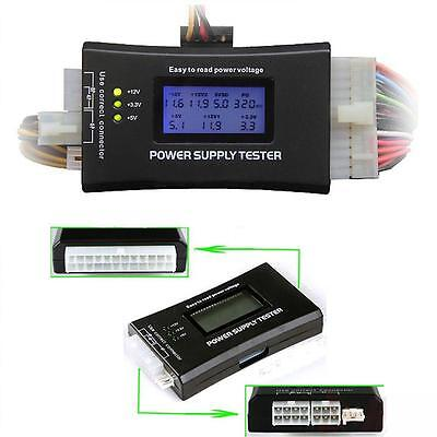 LCD Digital PC Computer Power Supply Diagnostic Tester ATX /BTX /ITX Compliant~I