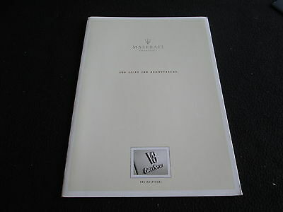 2005 Maserati GranSport German Media Review Catalog Gransp Coupe Sales Brochure