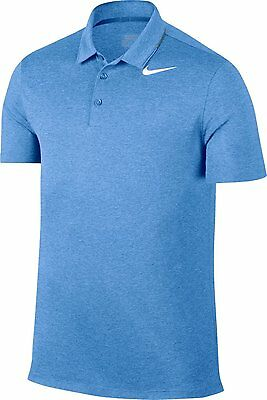 0466a676 Nike Breathe Heather Men's Golf Polo UNIVERSITY BLUE XL 833063 412 STANDARD  FIT