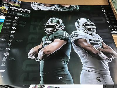 2017 Michigan State Spartans football poster MSU Dantonio Go green