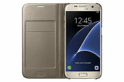 Samsung Galaxy S7 Case LED View Flip Cover - Gold
