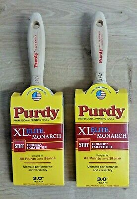 "2 x Purdy XL Elite Monarch 3"" (75mm) Paint Brush - *TWO BRUSHES*"