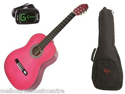 VALENCIA PINK HALF SIZE (1/2) GUITAR PACK *Inc Guitar, Padded Bag, Tuner* NEW!