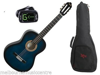 VALENCIA BLUE 1/4 SIZE GUITAR PACK *Inc Guitar, Padded Bag, Tuner* NEW!