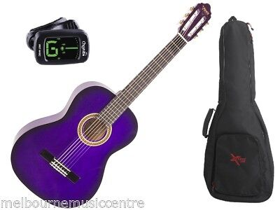 VALENCIA PURPLE 1/4 SIZE GUITAR PACK *Inc Guitar, Padded Bag, Tuner* NEW!
