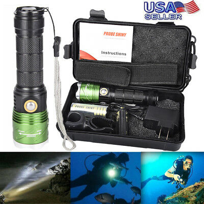 8000LM XML L2 LED Scuba Diving Underwater 500M Flashlight Torch Waterproof Set