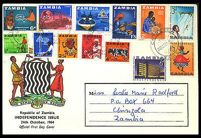 1964 Zambia - Rep Of Zambia Independence Issue - Fdc - Cover - Jbk