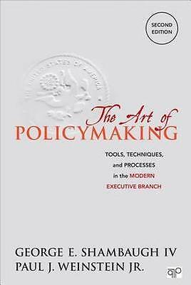NEW The Art Of Policymaking by Paul J. Weinstein BOOK (Paperback) Free P&H
