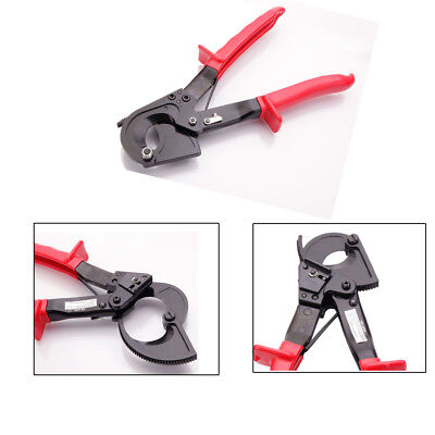 Electrical Ratchet Wire Line Cable Cutter Plier Cutting Hand Tool 240mm² Red CA
