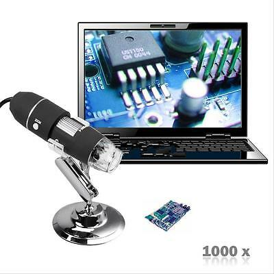 1000X8LED Digital USB Microscope Zoom 2MP Endoscope PC Camera Video Magnifier &