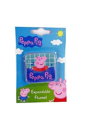 Peppa Pig Young Kids Face Wash Expandable Flannel Cloth