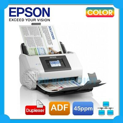 Epson DS-780N Network Sheet Feed A4 Document Scanner+One Pass Duplex 45PPM $1299