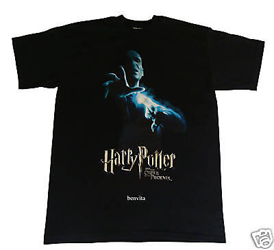 Harry Potter Voldemort T-Shirt Gr. L/XL schwarz 100% Baumwolle Cinereplicas Neu