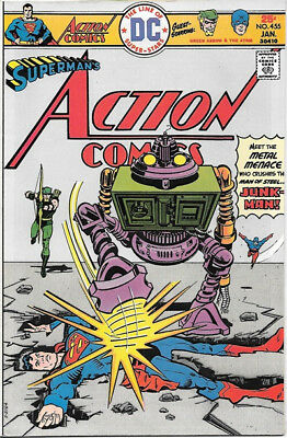 Action Comics Comic Book #455 Superman DC Comics 1976 VERY FINE-
