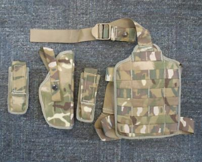 NEW - MTP Pistol Holster, Molle Drop Leg Panel and 2 x 9mm Magazine Pouches
