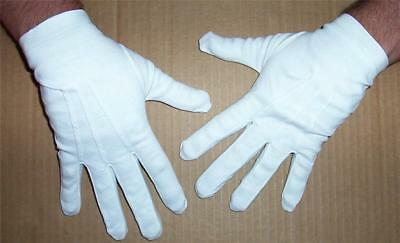 Adult White Parade Clown Grinch Gloves With Snap Costume Dress Accessory Ba02Lg