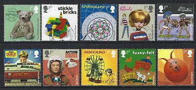 Great Britain 2017 Classic Toys  Set Of 10 Singles Fine Used