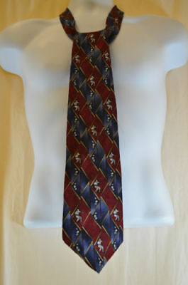 Character Silk Neck Tie Quote Me Casey Red/Blue 900#6