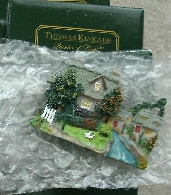 THOMAS KINKADE Collectible Refrigerator Sculpted Magnet LAMPLIGHT BROOKE