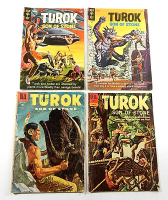 Turok Son of Stone #4 29 45 46 (Dell / Gold Key 1956-1965) Silver Age Comics