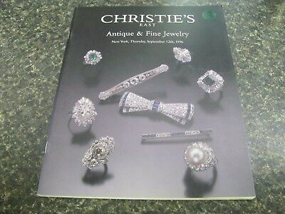 A1012 Old Pawn Christie's East Antique  Fine Jewelry  Sept 12, 1996 Magazine