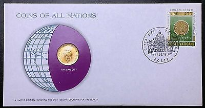 Coins of all Nations Series - 1977 Vatican City 20 Lire - Coin & Stamp Set - BU