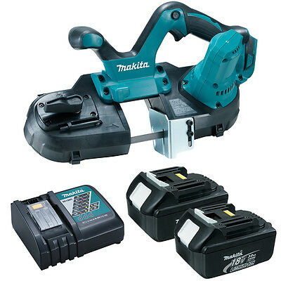 Makita XBP01Z 18V Cordless Portable Band Saw, (2) BL1830 Batteries and Charger