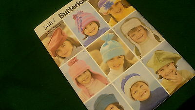 Butterick childresn hats pattern No. 3684