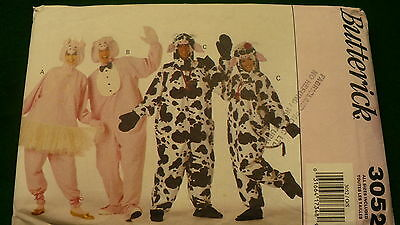 Butterick Cow costume sewing craft pattern No. 3052 Size 30 - 44 1993