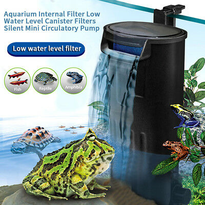 220V Small Fish Tank Turtle Reptile Circulation Filter Aquarium Internal Filter