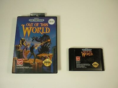 OUT OF THIS WORLD - Sega Genesis - BOXED Classic Game - TESTED - !!!