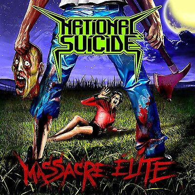 NATIONAL SUICIDE - Massacre Elite - LP Green [limited 100]