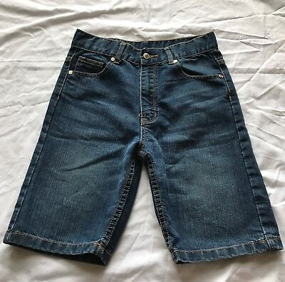 Boys size 12 Long blue denim shorts Shock Resistant