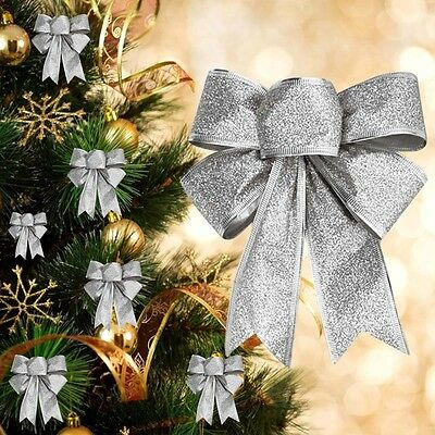 5 Colors Bows Bowknot Christmas Tree Party Gift Present Xmas Decoration Ornament
