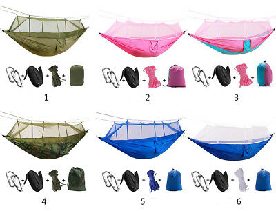 I Portable Tent Hammock Bed with Mosquito Net for Outdoor Travel Camping Picnic