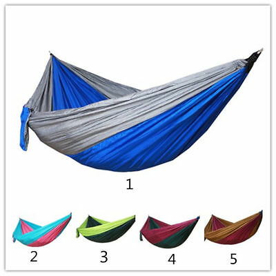 I Portable Double Person Hammock Swing Hanging Bed for Outdoor Camping Hiking