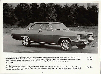 Opel Admiral Period Photograph.