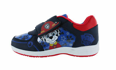 Boys Paw Patrol Marshall  Blue Canvas Trainers Hook and Loop Sizes 5-10 child