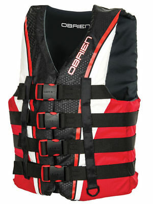 O'Brien 4 Belt pro Kayak Water Ski Wakeboard Buoyancy Aid Impact Vest