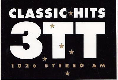 Classic Hits 3TT 1026 Stereo AM sticker from the 1980's 14cm x 10cm
